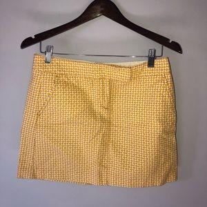 J. Crew Patterned Mini Skirt